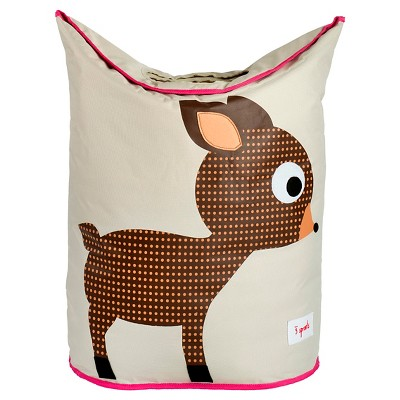 3 Sprouts Canvas Storage Hamper - Deer