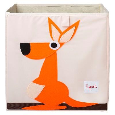 3 Sprouts Fabric Cube Storage Bin - Kangaroo