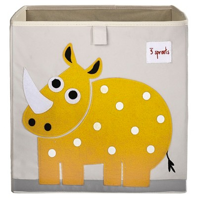 3 Sprouts Fabric Cube Storage Bin - Rhino