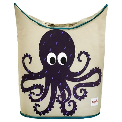 3 Sprouts Canvas Storage Hamper - Octopus