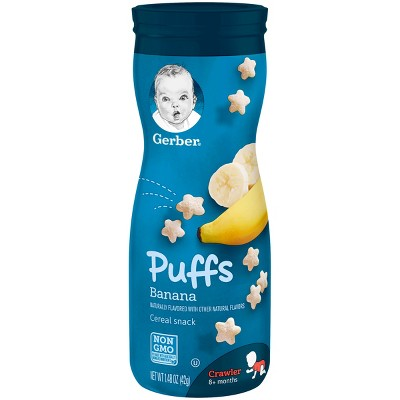Gerber Puffs Cereal Snack, Banana - 1.48oz (3 Pack)