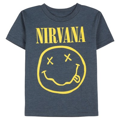 Nirvana Toddler Boys' Tee - Heathered Deep Navy 12 M