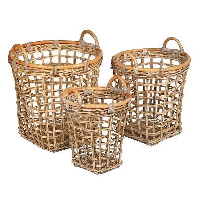 Istana Rattan Wicker Baskets - Set of 3