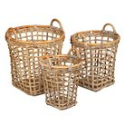Istana Rattan Wicker Baskets - Set of 3