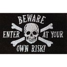 Halloween Skeleton Beware Doormat