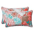 Pillow Perfect™ Suzanne Outdoor 2-Piece Lumbar Throw Pillow Set - Multicolored