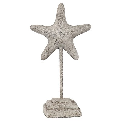 Grey Ceramic Starfish on a Stand