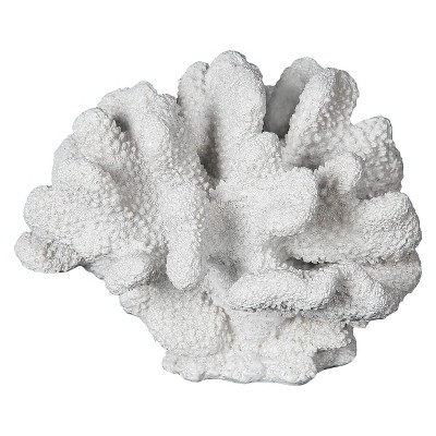 White Ceramic Coral Sculpture