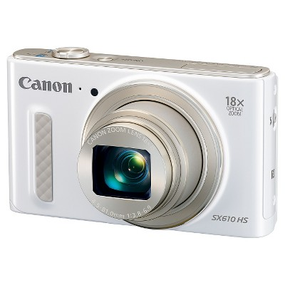 Canon PowerShot SX610 HS 20.2 MP Digital Camera 18x Zoom - White (0112C001)