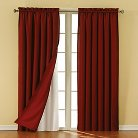 """Eclipse Thermaliner Blackout Thermaliner Curtain Panel Pair - White (54""""x92"""")"""