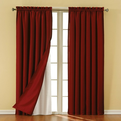 eclipse thermaliner blackout thermaliner curtain panel pair white 54 x92 ebay. Black Bedroom Furniture Sets. Home Design Ideas