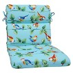 Pillow Perfect™ Curious Bird Outdoor Rounded Edge Chair Cushion