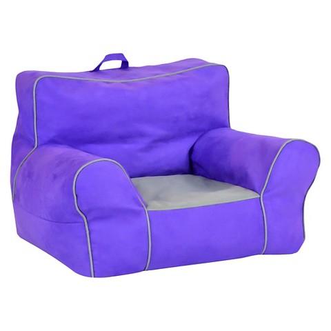 Soft Sided Bean Bag Chair Purple Zippity Kids Target