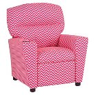 Recliner with Cup Holder Candy Pink - Zippity Kids