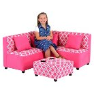 Sectional Candy Pink - Zippity Kids
