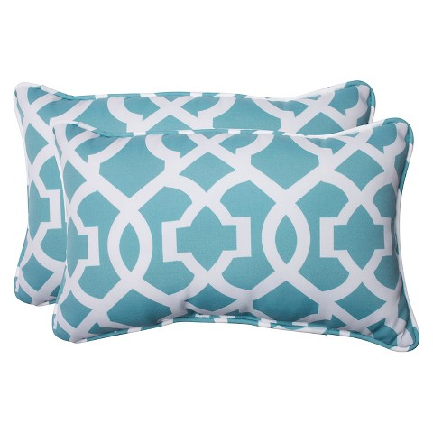 Outdoor Throw Pillows At Target : Pillow Perfect New Geo Outdoor 2-Piece Lumbar T... : Target