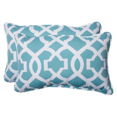 Pillow Perfect New Geo Outdoor 2-Piece Lumbar T... : Target