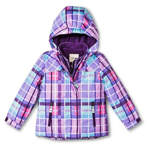 Toddler Girls&amp039 3-in-1 Plaid Jacket with Thinsulate Purple