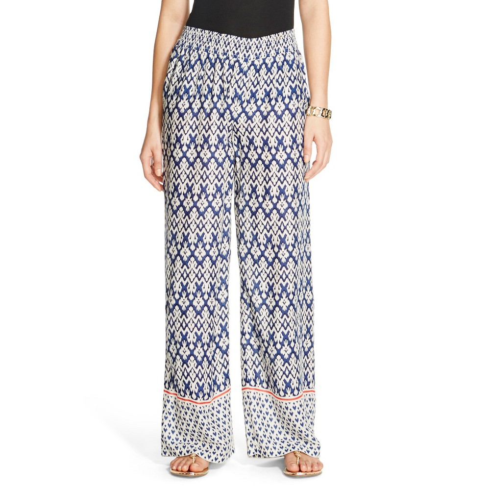 4e3d351a2f ... product image for Women's Woven Smocked Waist Palazzo Pant Blue Depths  XS - Beach UPC 782100546502 product image for Women's Beach Lunch Lounge ...