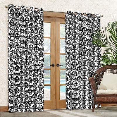 "Waverly SNS Luminary Indoor/Outdoor Curtain Panel - Licorice (52""x84"")"