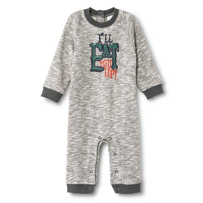 Newborn Boys' Rompers - Radiant Gray 0-3 M