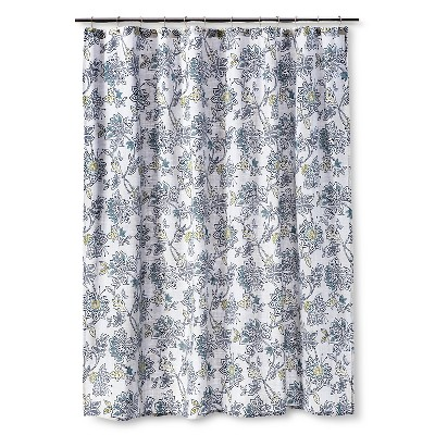 Threshold™ Jakobean Shower Curtain - Gallery White/Blue