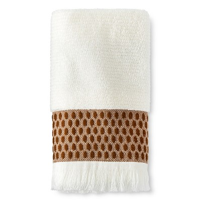 Woven Dot Hand Towel Trout Sour Cream/Toffee - Threshold™