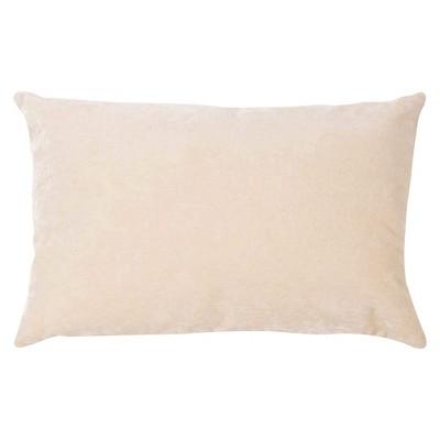 "Jaipur Luxe Handmade Linen/ Cotton Pillow - Ivory/White (16""x24"")"