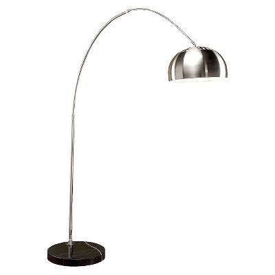 Lumisource Chrome/Marble Arch Floor Lamp