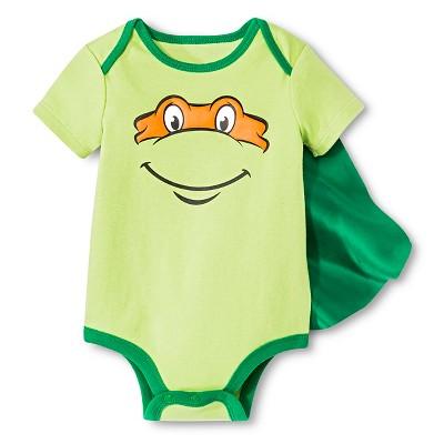 Teenage Mutant Ninja Turtles Newborn Boys' Bodysuit - Green 3-6 M