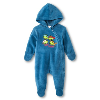 Teenage Mutant Ninja Turtles Newborn Boys' Coveralls - Navy 3-6 M