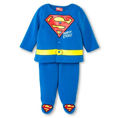 Superman Newborn Boys' Top & Bottom Set - Navy 6-9 M