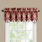 """Waverly Rose Momento Window Valance - Merlot (80""""x15"""")"""