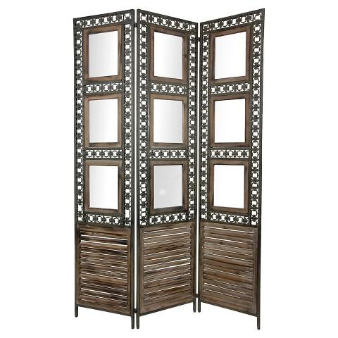 Oriental furniture antiqued photo frame room div target - Room divider picture frames ...