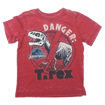 Male Tee Shirts Jurassic World Red 12 M