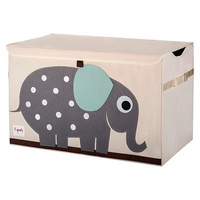 3 Sprouts Collapsible Storage Toy Chest - Elephant