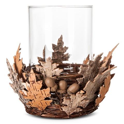 Birch Bark Acorn Glass Candle Holder - Large - Smith & Hawken™