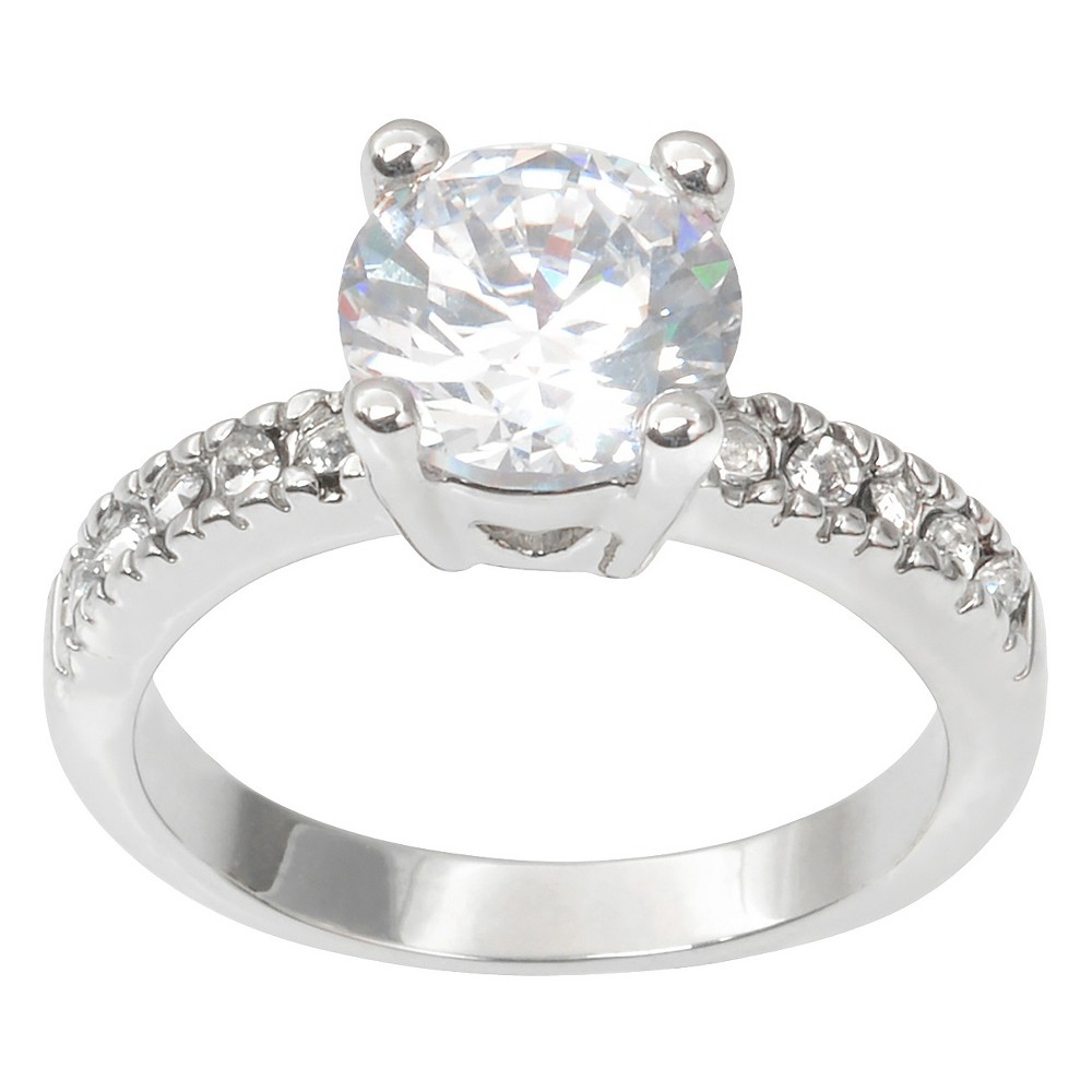 2 CT. T.W. Journee Collection Round Cut CZ Basket Set Wedding Ring in Brass - Silver (9)