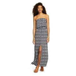 XHIL Strapless Maxi Dress Black/White