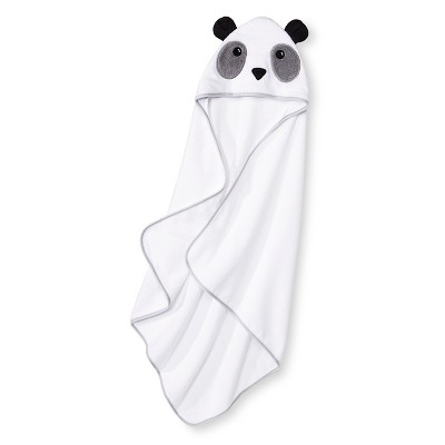Newborn Bear Hooded Bath Towel - White OSFM