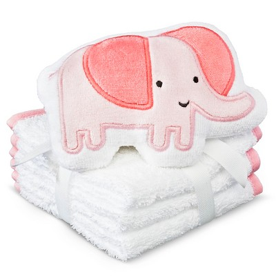 Newborn 4-Piece Elephant Washcloth Set - Pink Circo™