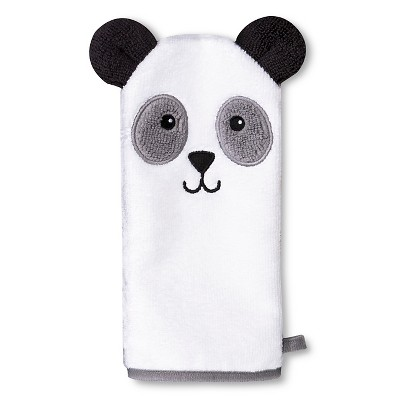 Newborn Bear Wash Mitt - White OSFM
