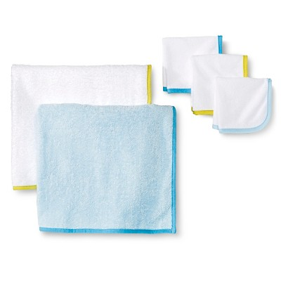Newborn 5-Piece Bath Towel Set - Blue Circo™