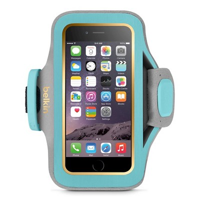 iPhone 6/6S Armband - Belkin Slimfit - Blue/Gold (F8W634-C02)