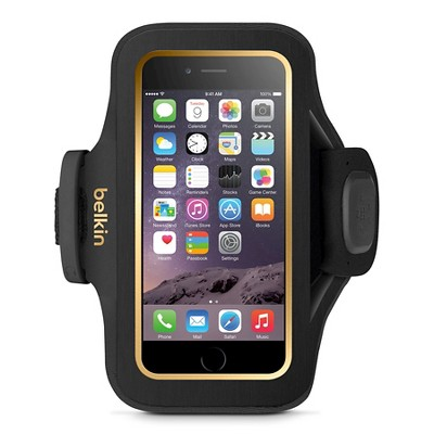 iPhone 6/6S Armband - Belkin Slimfit - Black/Gold (F8W634-C00)