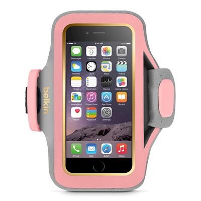 iPhone 6/6S Armband - Belkin Slimfit - Gold / Pink (F8W634-C03)