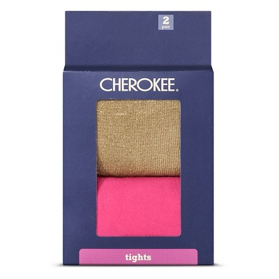 Baby Girls' 2-Pack Tights Gold/Pink 6-12 M - Cherokee®