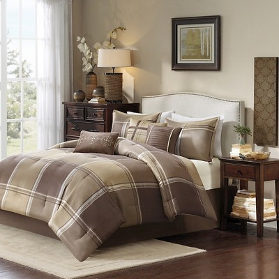 Fletcher 7 Piece Comforter Set - Gold (Queen)
