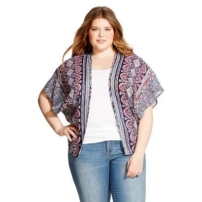 Women's Plus Size Kimono Jacket Navy Sugar Kisses