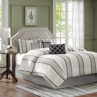 Gavin 7 Piece Comforter Set - Grey (King)